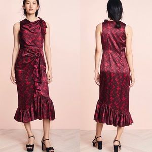 NEW Cinq a Sept Nanon Dress 100% Silk Size 4